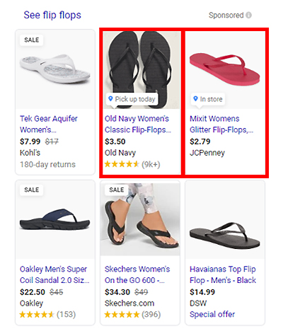 slippers google shopping ads